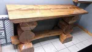 Handcrafted Log Bar/Table
