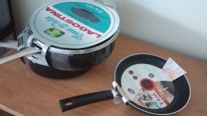 3 new non-stick pans