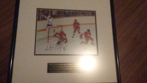 wayne gretzky signed photo of first point
