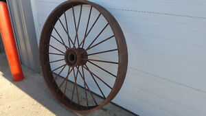Antique Metal Wagon Wheels