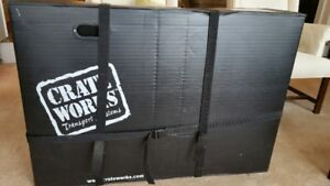 Crate Works road bike plastic shipping box, good condition
