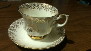 Royal Albert wedding anniversary tea cup and saucer not used