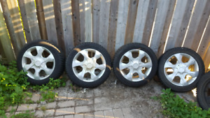 "16"" rims and winter tires $300"