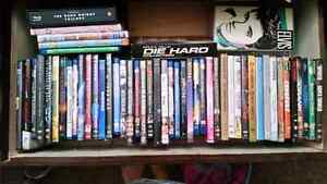 Dvds and Blu-ray  $2 each or $50 for the lot