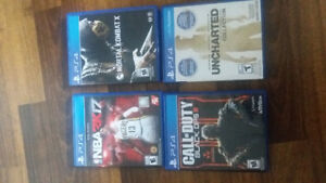 PS4 Games for sale $25.00