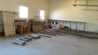 Sale of barn boards, windows etc.