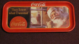 """Vintage 1992 Reproduction Metal Coca-Cola Tray """" They Knew What"""