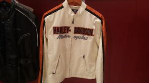 Manteau Harley Davidson Blanc grandeur LARGE Porté 1 fois