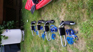 Two Pairs Thule Kayak Carriers,