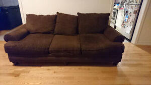 Brown Comfy Couch