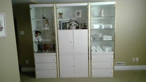 Three Unit Display Cabinet