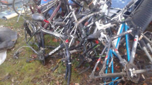 bike  frames,about 14 , was collecting,but no time