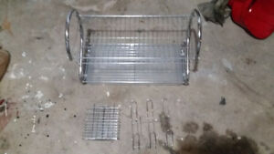 Plate dryer with tray etc.