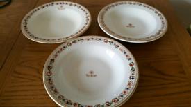 Vintage Soup Bowls x 3