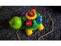 V-tech pull along musical turtle toddler toy