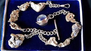 Klondike Gold Nugget Pocket Watch Chain