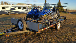 "2013 Trail Pro 102"" x 14' 3500lbs axle! Snowmobile Trailer"