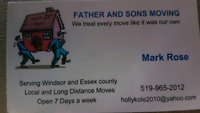 FATHER AND SONS MOVING