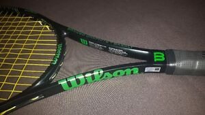 WILSON BLADE 98 18X20 WITH NEW BABOLAT STRING AND NEW GROMMETS