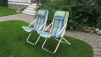 Two Sling Patio Chairs