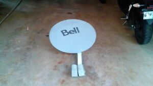 Bell HD satellite dish ,dual LNB , 2 switches , 2 power supplies