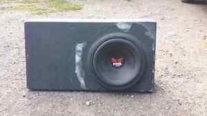 Rockford sub in box