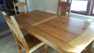 Solid Beautiful Redwood Dinning table