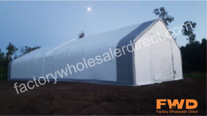 `New 40-80' Wide Coverall Fabric Buildings Keep Your Assets Safe