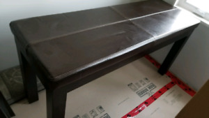 Bonded leather topped sofa table