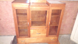 Antique buffet/hutch display cabinet