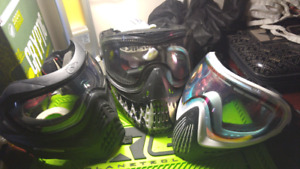 V force grillz, Dye i4 and Empire Eflex masks