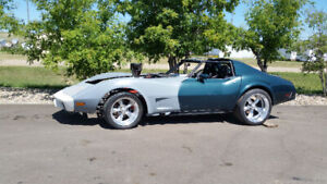 1976 corvette drag car