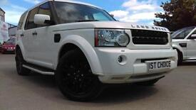 2009 LAND ROVER DISCOVERY 4 TDV6 HSE STUNNING WHITE PRIVACY /STEPS /REAR SEAT