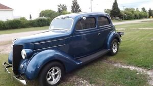 We have a 1936 ford 2 door sedan humpback $27,000 We are in Sask