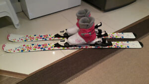 Mint condition girl ski package 120cm, 20.5cm (US1) boots NEW