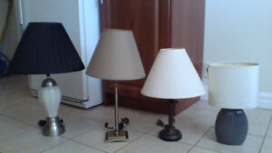 LOTS OF LAMPS (Tall and small) $5-$25 each and (Special Deals)