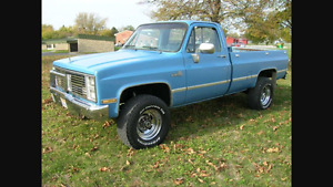 Wanted 1960 to 1987 Chevy 4 x 4