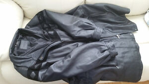 Woman's Black Leather Jacket Size 24