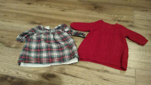 0-3 months winter/Christmas dresses