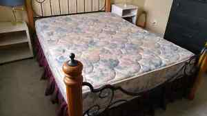 Queen Mattress (boxspring and rails included)