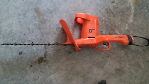 Black and Decker hedge trimmer in SALMON ARM