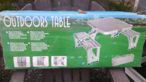 Outdoor portable table