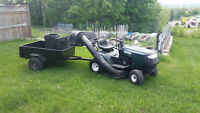 Craftsman lawn tractor plus trailer - EXCELLENT condition