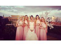 X3 Eliza & Ethan Multi Wrap Dresses in Dusty Rose