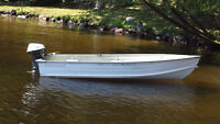 12 ft Starcraft Aluminum boat w/ 6 HP Johnson outboard