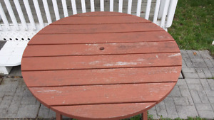 """Round Picnic Table - 47.5"""""""