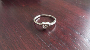 Diamond and Sterling Silver Ring Kitchener / Waterloo Kitchener Area image 2