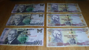 Bank of Jamaica Currency