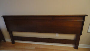 King Bed Headboard Solid wood by Gibbard circa 1960's