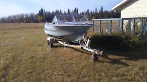 4Seat Boat, 125hp motor just rebuilt with 2 New Fuel Tanks &Trai